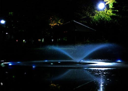 輝きの噴水