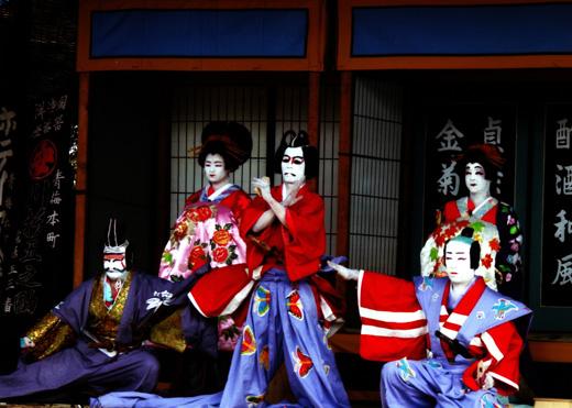 菅生歌舞伎「寿曽我対面」の一場面