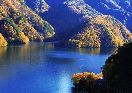 錦繍の奥多摩湖