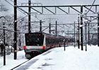 第13回 拝島駅長賞 関東に大雪(運休前の御嶽駅で)